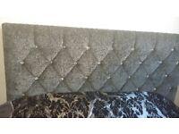 Crushed silver velvet bed frame. Diamond detail 4months old.