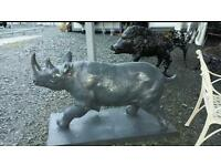 Heavy cast iron garden ornaments rihno and boar