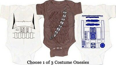 CHOOSE Infant Baby Star Wars Storm Trooper Chewbacca R2-D2 Costume Suit Romper - Chewbacca Infant Costume