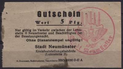 [11858] - 1947: NOTGELD NEUMÜNSTER, Kreisfeststellungsbehörde (Lohnstelle II), 5