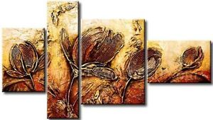 FL4-149,Hand made (not printed) Oil painting  beautiful Flower.