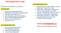 Marie's Personal Assistant: Errands, Housekeeping & Cleaning!