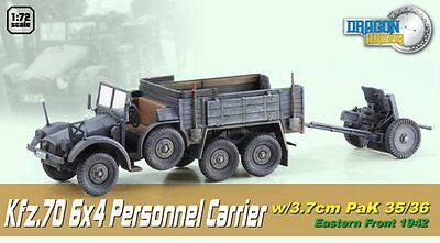 Dragon Armor 1/72 Scale Wwii German Personnel Carrier W/3.7cm Pak 35/36 60517