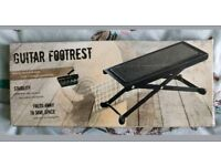 Guitar Footrest | Sturdy Metal Design | 4 Height Positions | Acoustic Electric
