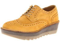 FLY LONDON 'Jane' 6 / 39 suede wedge lace-ups RRP £95