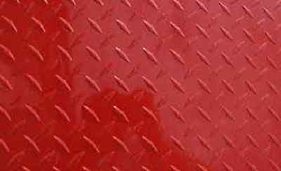 Aluminum Diamond Plate Painted Red .025 X24x24