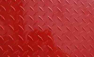 Aluminum Diamond Plate Painted Red .025 X24x48