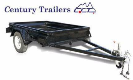 CENTURY TRAILERS- 8x5 SOLID AXLE PAINTED TRAILERS