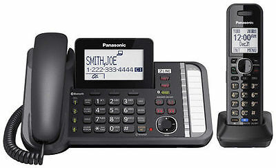 Panasonic KX-TG9581B  Handset Corded  / Cordless (2 Line) Link2Cell Telephone