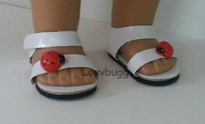"Lovvbugg Ladybug Sandals for 18"" American Girl n Bitty Baby Doll Shoes"