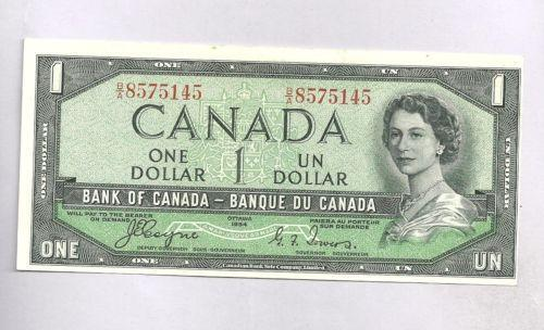 1954 Canada One Dollar Bill Ebay