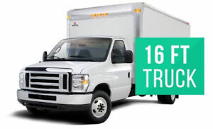 RENT A 16 FOOT LONG CUBE TRUCK - $1500 MONTHLY - UNLIMITED KMS