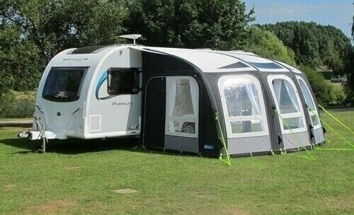 Kampa 300 Ace Air Pro, Air Awning with pump and shaped ...