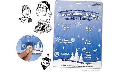 All-Inclusive Non-Denominational Generic Winter Holiday Countdown Calendar  ()