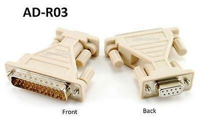 DB9 Female 9-Pin to DB25 Male 25-Pin Serial Adapter - CablesOnline AD-R03 ()