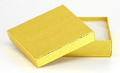 New 20 Gold Cotton Filled Jewelry Gift Boxes 3 12