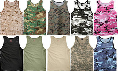 - Rothco Mens Camouflage Tactical Military Top Army Camo Tank Top Muscle Shirt