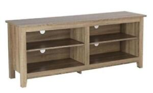 Walker Edison Essential 58-in TV Console, Driftwood TV stand