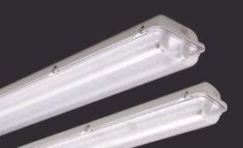 4ft TWIN 2 x 28w IP65 HF NON CORROSIVE WATERPROOF FLUORESCENT LIGHT 1200mm 4' T5