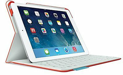 Logitech Fabric Skin Ultrathin Keyboard Folio Case for iPad Air Mars Red Orange