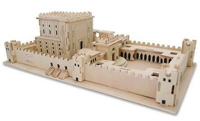 "100 pcs 3D Wood Jigsaw Temple Puzzle Mikdash Jerusalem 10.25"" X 6"" X 4"""