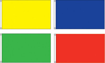 """Solid Color Blank Flags 12""""X18"""" 2x3 3x5 4X6 5X8 Nylon US MAD"""