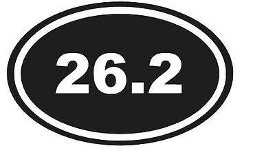 (26.2 MARATHON OVAL VINYL DECAL STICKER SPORTS RUNNER LAPTOP  CHOOSE COLOR)