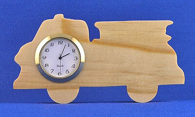 Fire Truck Mini Clock - Hand cut w/ choice of insert