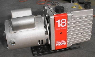 Edwards 18 One Stage Vacuum Pump 220 V Single Phase