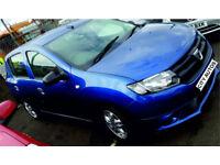 DACIA SANDERO 2013, 74,000 MILES 1.5 DIESEL MANUAL 5 DOOR HATCHBACK BLUE