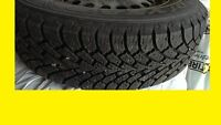 205 65 15 NORDIC WINTER TIRES 90% ON FORD RIMS TRADE FOR TABLET