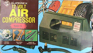 Emergency Compressor  12 Volt operating from car battery.