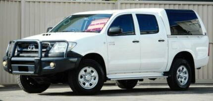2010 Toyota Hilux KUN26R MY11 Upgrade SR (4x4) White 4 Speed Automatic Dual Cab Pick-up Lismore Lismore Area Preview