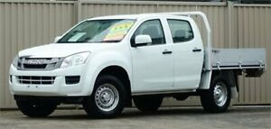 2012 Isuzu D-MAX TF MY12 SX (4x4) White 5 Speed Manual Crew Cab Chassis