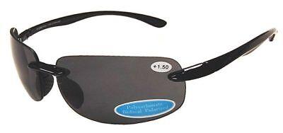 BIFOCAL POLARIZED Sunglasses Reader UV400 TPR Frame Men Lightweight Fishing (Lightweight Sunglasses Polarized)