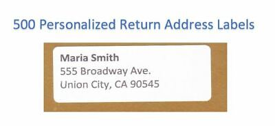 300 -Custom Printed Large Return Address Labels 1