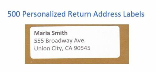 "300 -Custom Printed Large Return Address Labels 1"" x 2-5/8"""