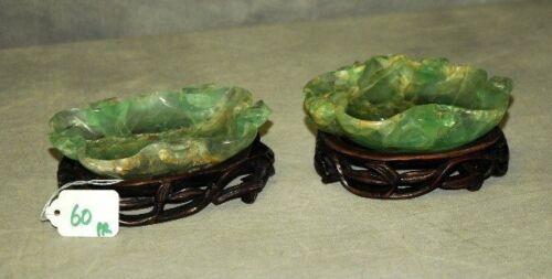 Pair 19th C Chinese quartz brushes