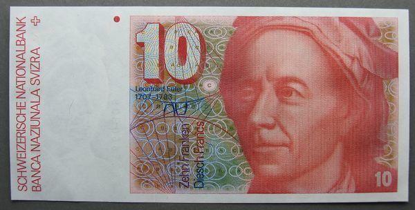 Switzerland 10 Franken Bank Note - Crisp Unc – Issued 1980 – P#53b ~2198