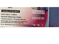 Coventry Big Weekend - in demand Sunday ticket
