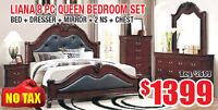 Liana 8pc Queen Bedroom Set Now On Sale for $1399 Tax In!!!