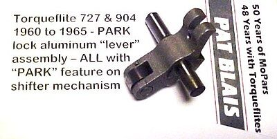 Torqueflite 727 & 904 1960-1965: PARK Lock Aluminum Apply LEVER Assembly - USED