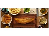 Fish and Chips Cooks Needed.