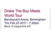 Drake The Boy Meets World Tour Birmingham Thursday 23rd February 2017
