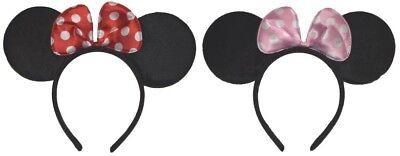 Haarreifen Fasching Karneval Minnie Mouse big Maus Ohren mit Schleife Haarreif