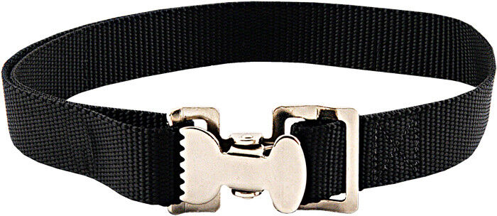 10 - Alligator Clip Nylon Tie Down Straps - Black - 4 Feet