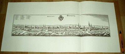Braunschweig: alte Ansicht Merian Druck Stich 1650 (schw)