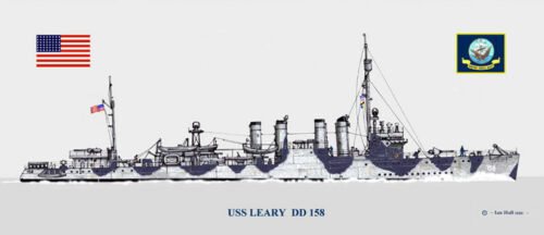 USS Leary  DD-158 Ship Print US Navy