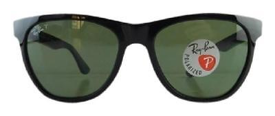 Authentic Ray-Ban Polarized Black / Classic Green Sunglasses RB4184 601/9A