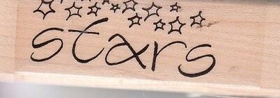 """stars global solutions Wood Mounted Rubber Stamp 1 x 3""""  Free Shipping"""